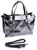 Женская сумка кожаная классическая черная 1018