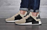 Мужские кроссовки  Adidas NMD Бежевые (реплика)