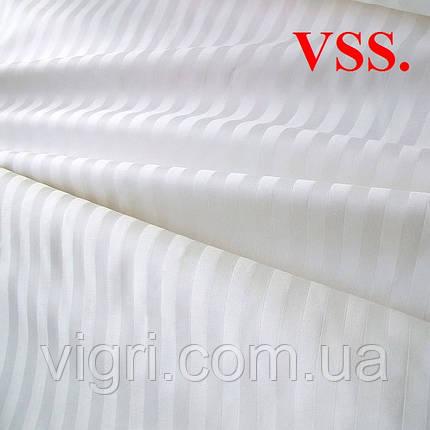 """Постельное белье, полуторка, сатин страйп """"Stripe"""", белый, Вилюта «Viluta» VSS, фото 2"""