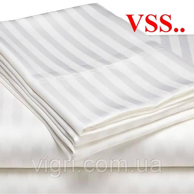 """Постельное белье двуспальное, сатин - страйп """"Stripe"""", белый, Вилюта (Viluta) VSS"""