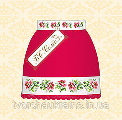 Юбка детская под вышивку бисером Маки (красная)