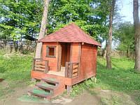 Детский домик из дерева (200х200)