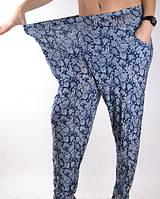 Cултанки, брюки галифе женские цветные бамбук Ласточка (баталы), с карманами, размер 50-56, А401, фото 1