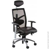 Офисное Кресло Руководителя Special4you Exact Black Leather/Black Mesh (E0604)