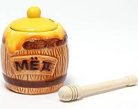 """Медовница с ложкой Honey """"Переполненный бочонок"""""""