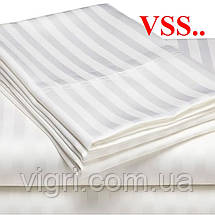 """Постельное белье двуспальное, сатин страйп """"Stripe"""", белый, Вилюта «Viluta» VSS, фото 2"""