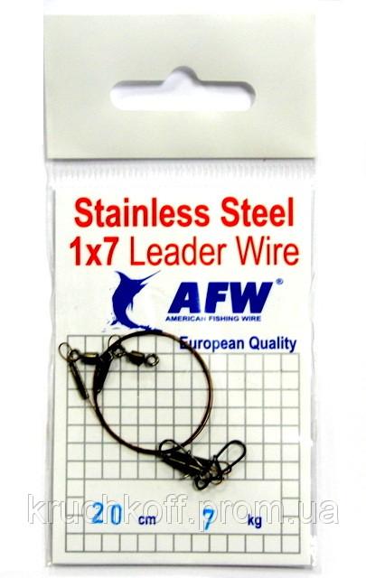Поводок AFW 1х7 20см 7кг (2шт)