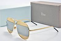 Солнцезащитные очки Dior Split зеркальное с золотом