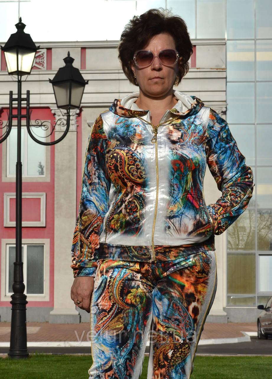 Велюровый женский спортивный турецкий костюм EZE купить разм 48,50,52,54,56  баталы e7bc32ac555