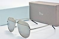 Солнцезащитные очки Dior Split зеркальные с серым