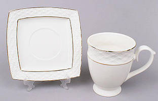 Чайная пара White Princess чашка 340мл и блюдце