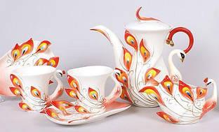 Кофейный сервиз Peacock Red 15 предметов