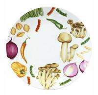 """Обеденная тарелка """"Овощи"""" Ø22.5см, керамика"""