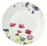 "Набор 6 мелких тарелок ""Розовый цветок"" Ø20см"