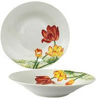 "Набор 6 суповых тарелок ""Тюльпан"" Ø20см, керамика"