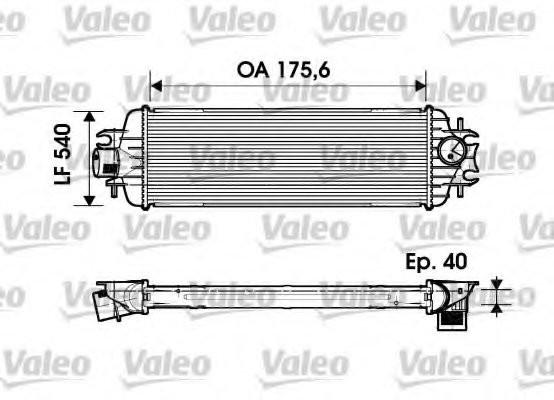 Радиатор интеркулера на Renault Trafic  03->  2.5dCi  (135 л. с. )  —  Valeo ( Франция) - VAL817636