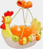 """Декоративная корзина для яиц """"Пасхальная"""" керамическая 19.5х17.5х19см"""