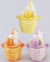 """Сахарница """"Пасхальная"""" декоративная из керамики 16см"""