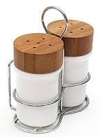 Спецовники сервировочные Ceram-Bamboo соль/перец на подставке