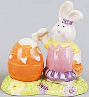 """Набор спецовников """"Кролик"""" соль/перец на керамической подставке"""