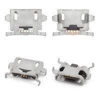 Коннектор зарядки для мобильных телефонов ZTE Blade L3; Sony C2104 S36 Xperia L, C2105 S36h Xperia L, ST23i Xperia Miro, ST26i Xperia J, 5 pin,