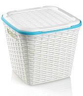 Корзина Ucsan Basket для белья пластиковая 30x30x28см, белая