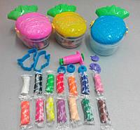 """Набор для лепки из теста """"Ананас"""" (14 цветов теста, 238г.), фото 1"""