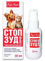 Стоп-Зуд спрей для собак и котов, 30 мл, Апи-Сан