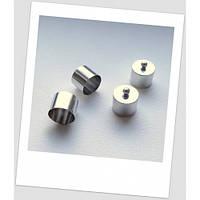 Концевик колпачок для бижутерии металлический, 15 мм внутренний диаметр, цвет стальной