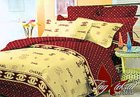 Постельный комплект полуторный, ранфорс хлопок, R0671