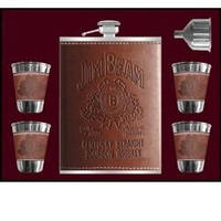 Набор для виски с флягой Jim Beam
