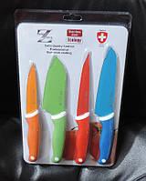 Набор кухонных металлокерамических ножей с разделочной доской. Швейцария
