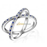 Серебряное кольцо с цветными цирконами