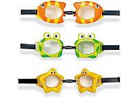 Intex 55603, детские очки для плавания, Обитатели моря