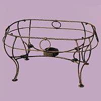 Столик кованый Косички 4 ножки Старая бронза, металлический
