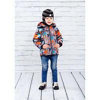 Весенне-осенняя куртка из мембранной ткани таслан и покрытием Тефлон для мальчика 1-4 лет ( р. 86-104) ТМ Be easy цв28
