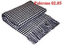 Плед  полуторный 140х200, тм. VLADI, Палермо «Palermo» 02.05 (бел-син)