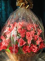 Букет из конфет-  «Большая корзина роз» (под заказ)
