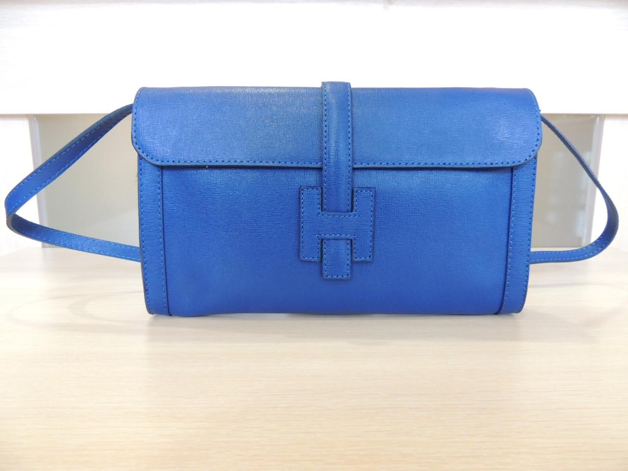 Белая, серая, коричневая, бирюзовая, синяя сумочка - клатч женская кожаная, итальянская. Синий