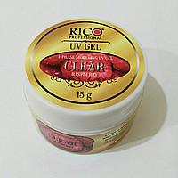 Гель моделирующий Clear Raspberry, Rico, 15 гр