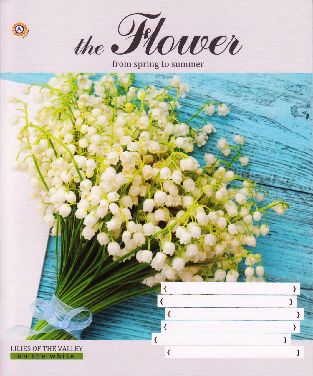 """Тетради школьные 24 листа линия """"Цветы"""" 794744"""