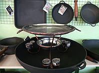 Садж кованный для подогрева шашлыка (блюдо) 36 см.+6 рюмок