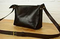 Кожаная женская сумка Лето LUX кросс-боди | Италия Кофе, фото 1
