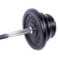 Штанга, гантели 30кг, черный, IronMaster