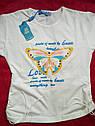 Детская футболка на девочку Бабочки Турция Размеры 104- 116, фото 4