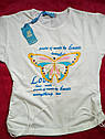 Детские футболки на девочку Бабочки Турция Размеры 104- 116, фото 4