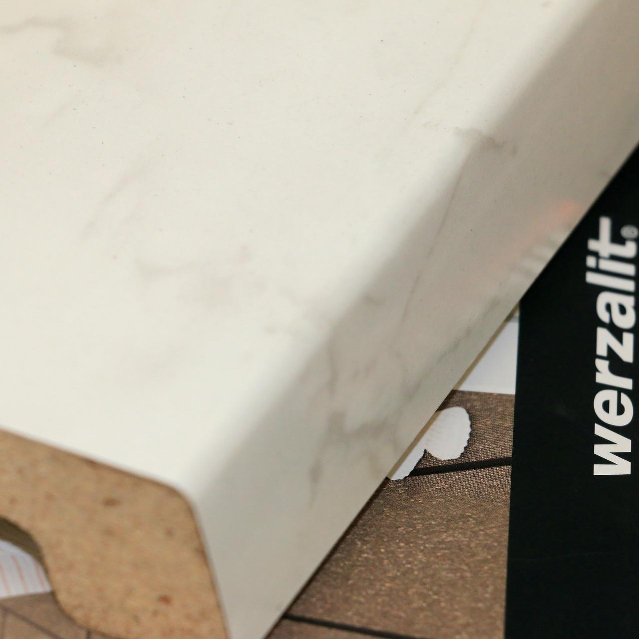 Подоконник Верзалит (Werzalit) цвет мрамор бианко
