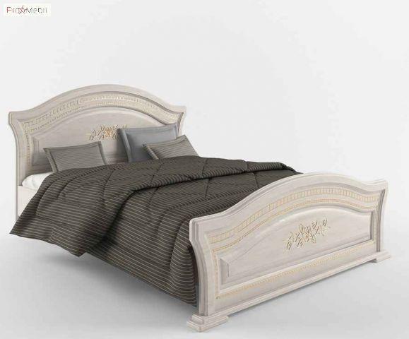 Ліжко двоспальне Венера Люкс 160 біла