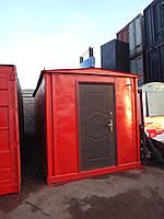 Блок-контейнер 20 футов (тонн) с окном, перегодкой, внутренней отделкой
