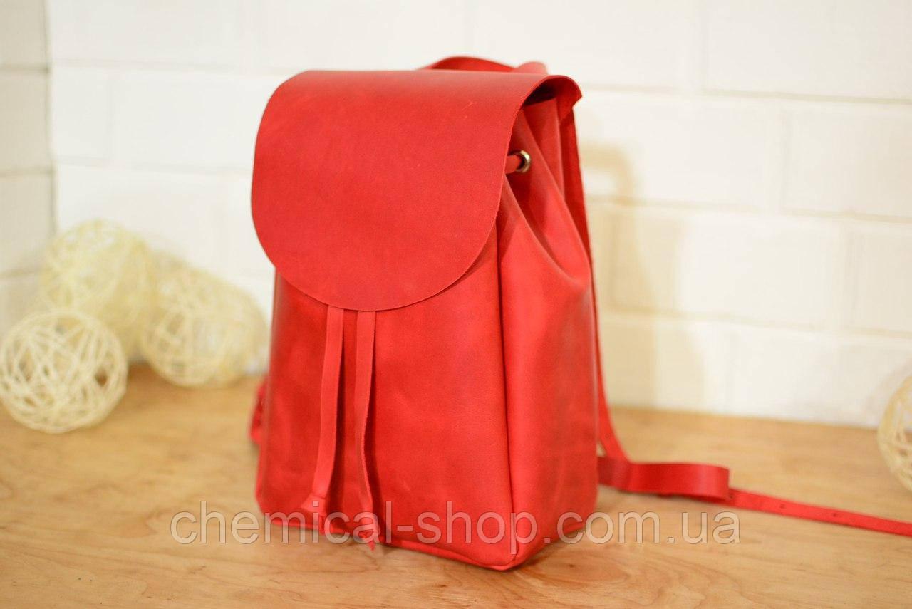 Красный женский рюкзак из кожи - Интернет-магазин выгодных цен